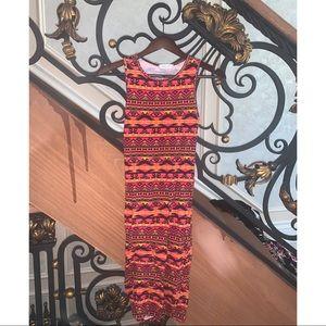 Tribal print midi dress size XS